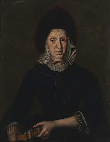 Maria Magdalena Zellweger-Tanner, Öl auf Leinwand, 1738?