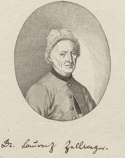 Auch Johann Ulrich Fitzi hat das Honigtopfbildnis von Laurenz Zellweger abgezeichnet: Die Federzeichnung befindet sich in den Lucubrationen von Johann Georg Schläpfer, Trogen 1829.