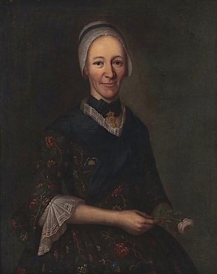 Elsbeth Zellweger-Sulser, Öl auf Leinwand, um 1730