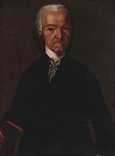 Johannes Zellweger-Sulser im Alter. Auf dem Porträt steht «Ad vivum pictus die 18./29. Octobris Anno 1773», nach der Natur gezeichnet nach julianischen Kalender am 18. bzw. nach gregorianischem Kalender am 29. Oktober 1773.