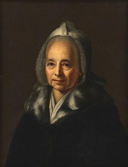 Anna Zellweger-Hirzel, Öl auf Leinwand von Felix Maria Diogg, ca. 1794
